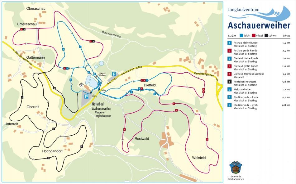 Karte Aschauerweiher