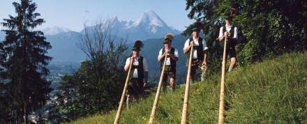 Alphornbläser, Musik und Gesang