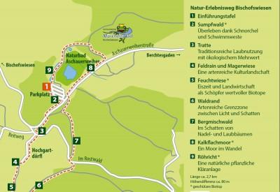 Plan und Stationen Natur-Erlebnisweg