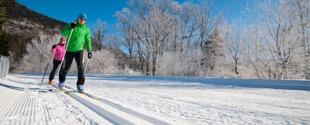 Langlauf-Wintersport am Aschauerweiher