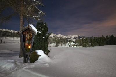 Abendstimmung im winterlichen Bischofswiesen c) Marika Hildebrandt