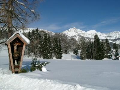Bergwinter Bischofswiesen bei Berchtesgaden