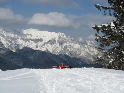 Rastbank Winterwandern in den Berchtesgadener Bergen