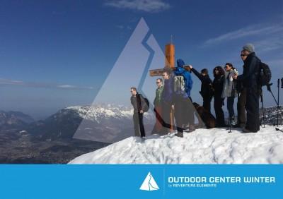 Gipfelerlebnis mit Schneeschuhen