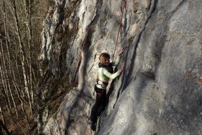 Kinderklettern am Kletterfelsen Bischofswiesen