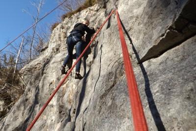 Am Kletterfelsen in Bischofswiesen
