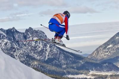 Ski-Rennläufer am Götschen Bischofswiesen