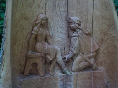 Aschenputtel und der Prinz am Märchenpfad Bischofswiesen