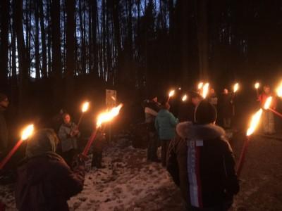 Romantische Fackelwanderung am Märchenpfad in Bischofswiesen