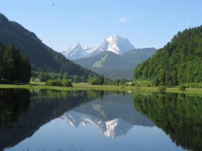 Watzmannspiegelung im Hallthurmer Moor