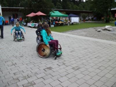 Action im Aschi 2017 Rolli Parcours