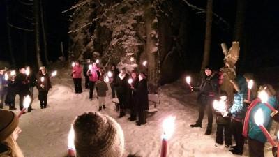 Winterliche Fackelwanderung in den Bischofswieser Bergen