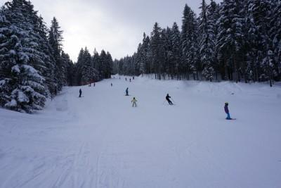 Familienabfahrt im Skigebiet Götschen Bischofswiesen