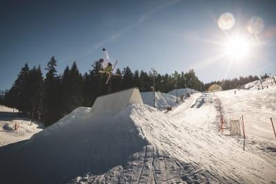 Spaß & Action beim Freestyle Snowpark am Götschen