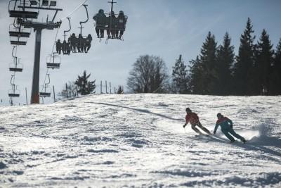 Abfahrt zur Talstation der Götschen Skilifte in Bischofswiesen