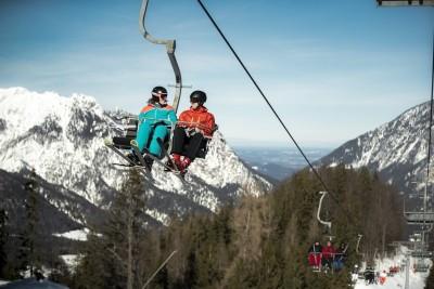 Skifahren mit Bergblick - Skigebiet Götschen in Bischofswiesen