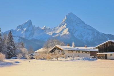Watzmann und Hochgartdörfl im Winter