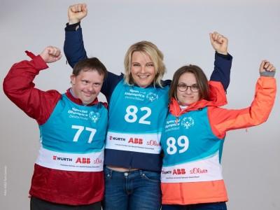 Gesichter der Spiele: Athlet Paul Wembacher, Olympiasiegerin Hilde Gerd, Athletin Sandrine Springer; c) Special Olympics Deutschland