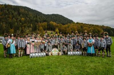 Traditionelle Musik- und Trachtengruppe in Bischofswiesen
