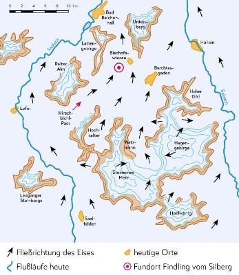 Gletscherwanderung Gneis-Findling vom Silberg