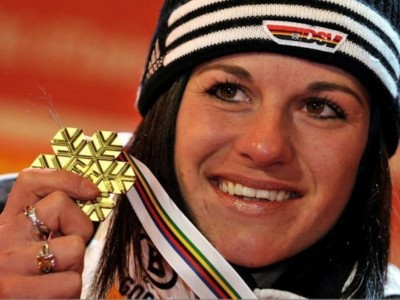 Weltmeisterin Kathrin Hölzl