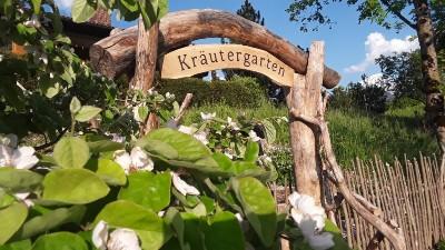 Im Kräutergarten wachen Gewürz- und Heilkräuter