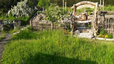 Der Kräutergarten im Naturgarten Bischofswiesen