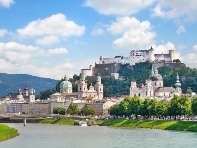 Salzburg mit Salzach