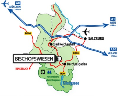 Karte für Anreise