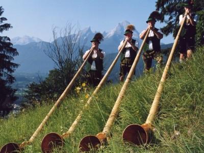 Alphornbläsergruppe  Wandei